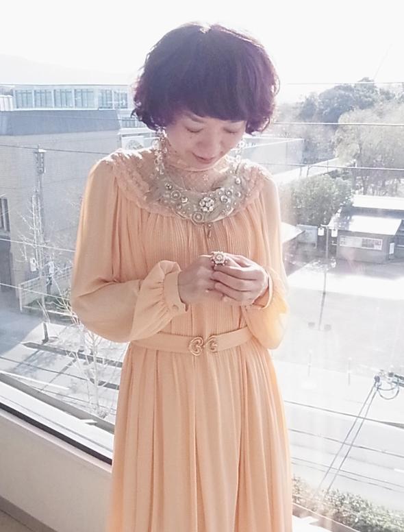 ドレス サーモンピンク2