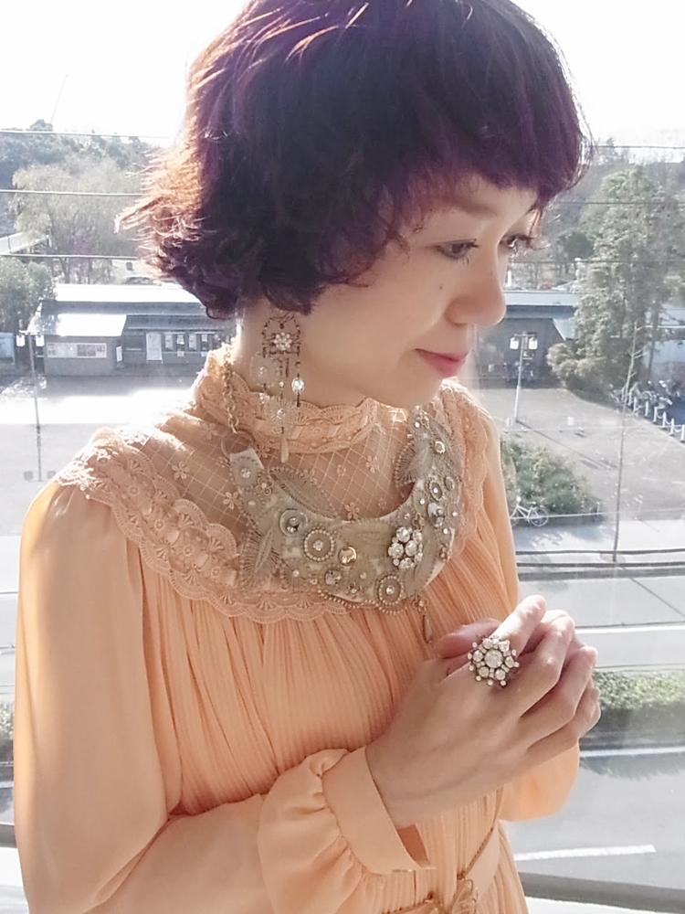 ドレス サーモンピンク3