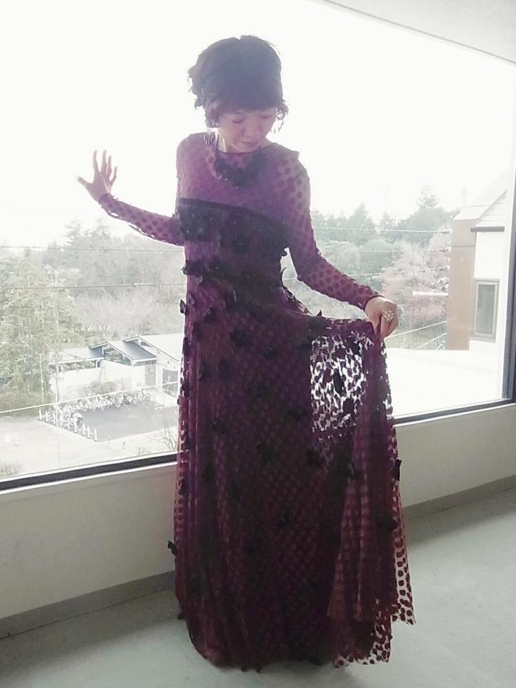 ドレス ボルドー2