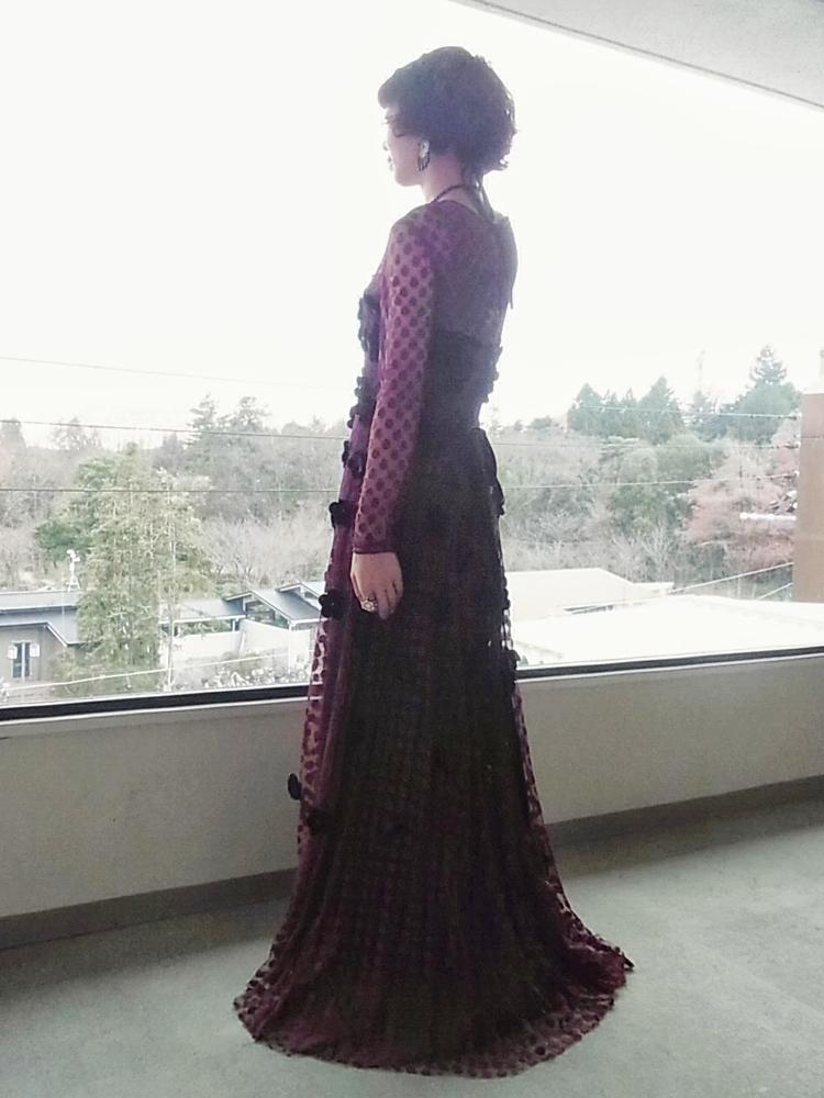 ドレス ボルドー